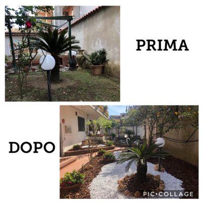 Realizzazione giardini: prima/dopo