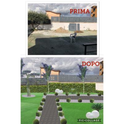 Progetto giardino: Prima-Dopo