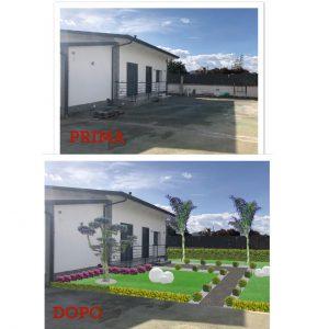Progettazione area verde:Prima/dopo